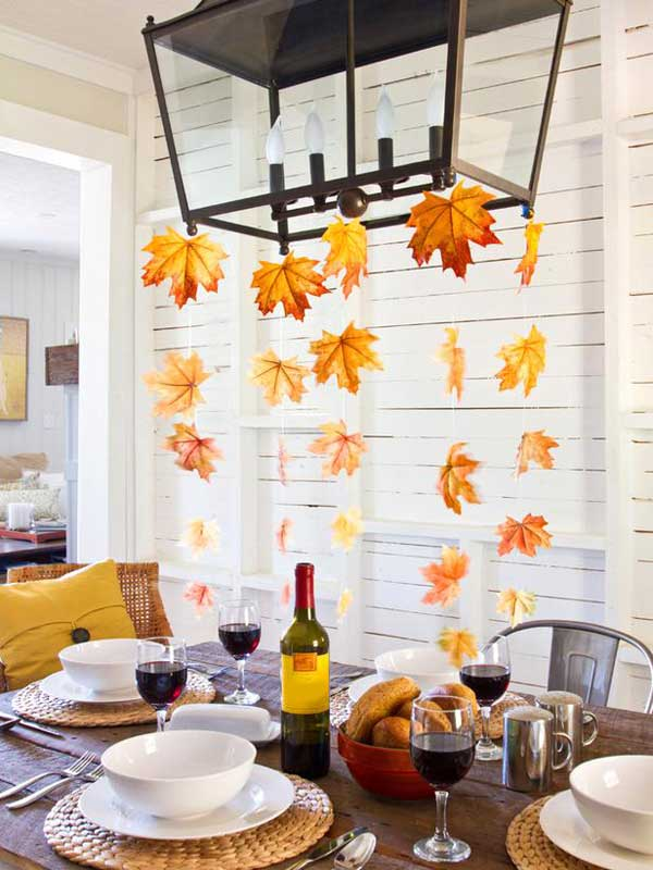 fall leaf decoration ideas 1 - Fall House Decorations