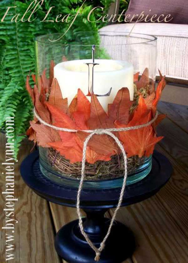 Diy fall inspired home decorations with leaves