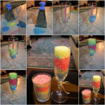 Colorful Layered Grated Candles