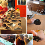 Petal-Inspired Wood Stain Furniture Art