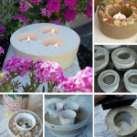 Cute Cement Candle Holders