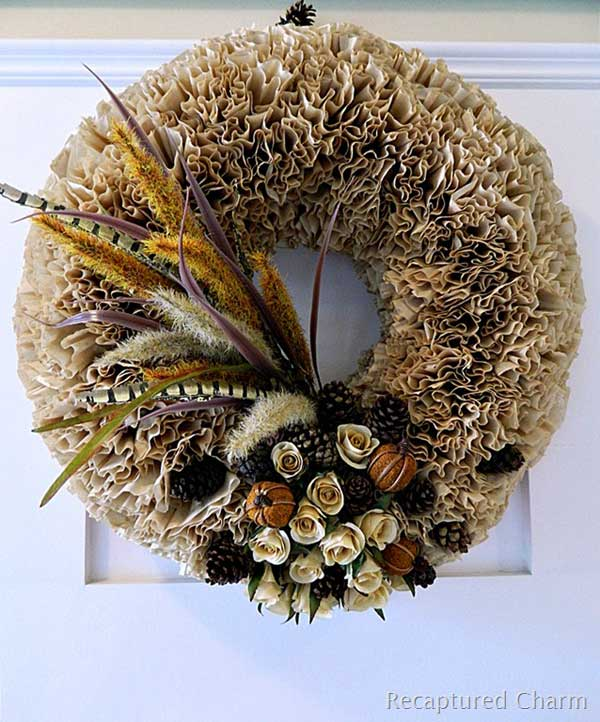 Top 38 amazing diy fall wreath ideas with full tutorials for Amazing wreaths
