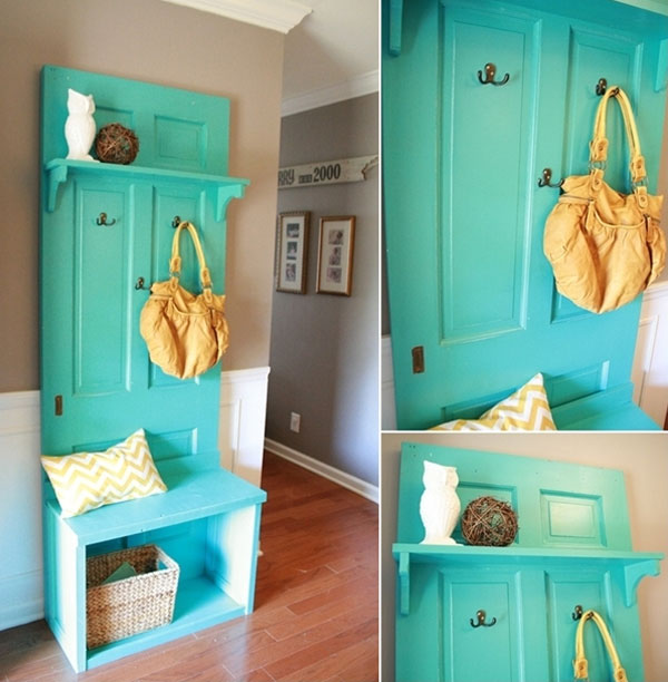 Old Doors Into An Amazing Entryway Bench