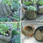 Lovely Concrete Hand Planters