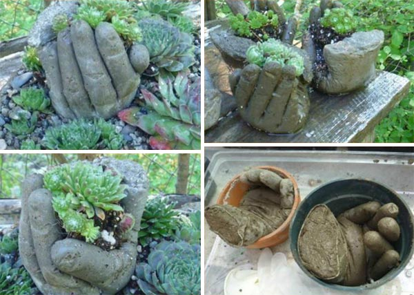 Concrete-Hand-Planters