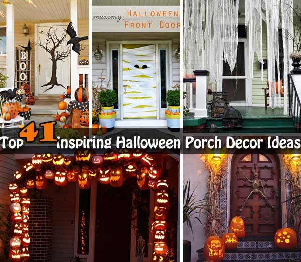 Halloween Front Yard Ideas Part - 15: Top 41 Inspiring Halloween Porch Décor Ideas