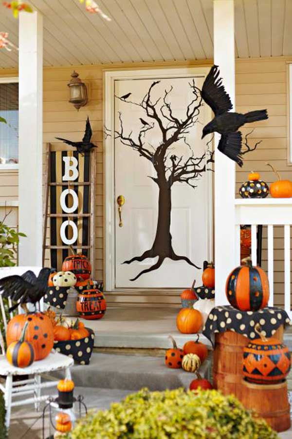 Top 41 inspiring halloween porch d cor ideas amazing diy for Pinterest halloween outdoor decorations