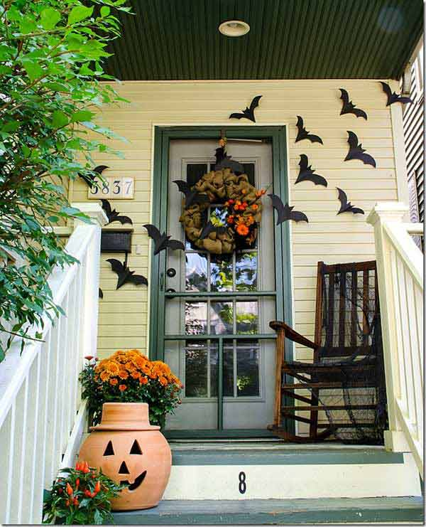 halloween porch ideas 24 - How To Decorate Outside For Halloween