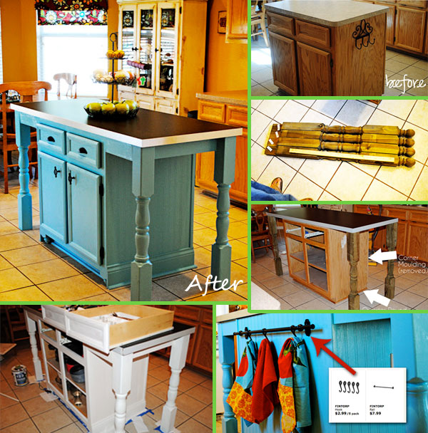 Budget Friendly Kitchen Island Makeover