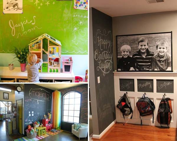 36 exciting ideas to decorate kids rooms with colored chalkboard rh woohome com Blackboard Chat Room The Room Poster