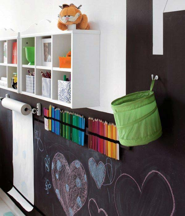 36 exciting ideas to decorate kids rooms with colored chalkboard rh woohome com Blackboard Study Room Chalkboard Paint Room Ideas