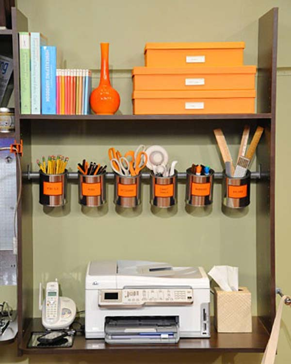 home office diy. Clever-office-organisation-19 Home Office Diy U