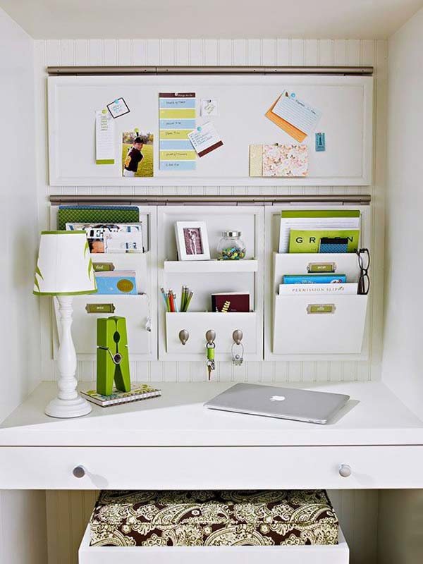 Office diy projects Do It Yourself Cleverofficeorganisation36 Woohome Top 40 Tricks And Diy Projects To Organize Your Office Amazing Diy
