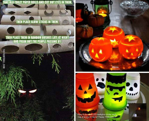 42 last minute cheap diy halloween decorations you can easily make 19 easy and spooky diy lights for halloween night solutioingenieria Choice Image