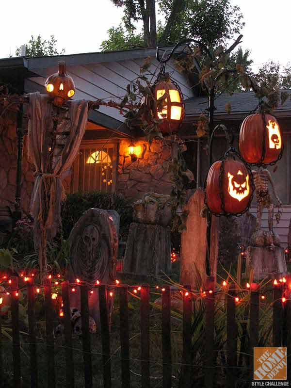 19 Easy And Spooky Diy Lights For Halloween Night Amazing Diy Interior Home Design: halloween decorations home depot