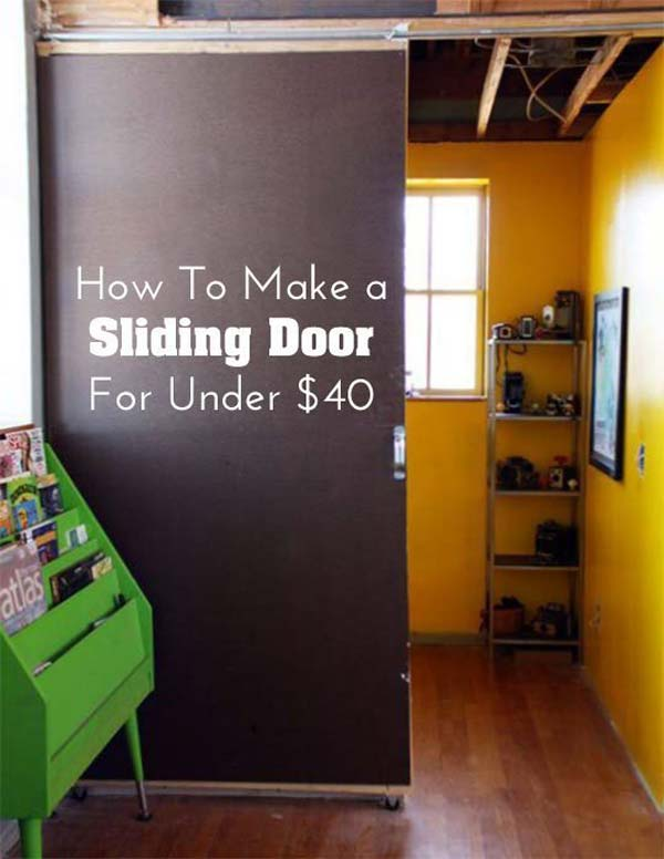 24 fantastic diy room dividers to redefine your space for Door substitute ideas