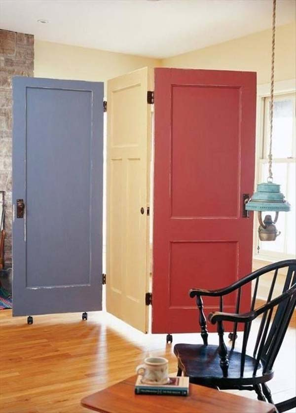 Room Partition With Door Amusing 24 Fantastic Diy Room Dividers To Redefine Your Space  Amazing Design Ideas