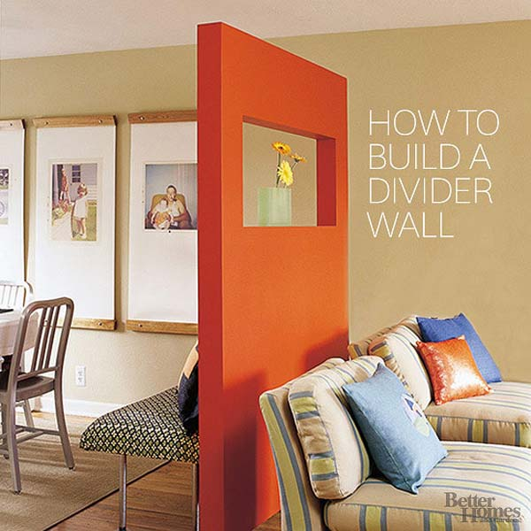24 fantastic diy room dividers to redefine your space for Dividers for small spaces