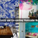 21 Lovely and Eye-Catching Watercolor Walls