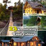 23 Breathtaking Forest-Fringed Wood Cabins