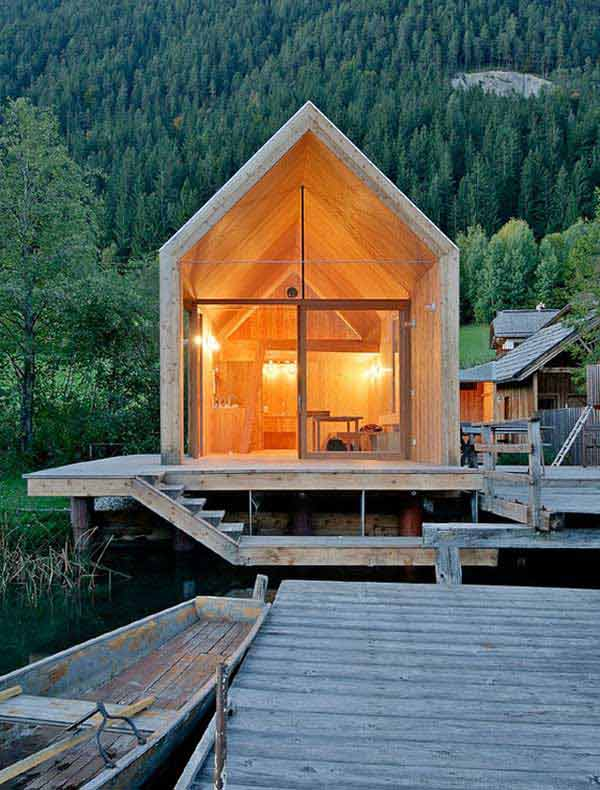 23 breathtaking forest fringed wood cabins amazing diy for Wood cabin homes