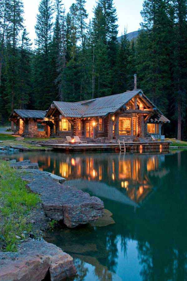 23 Breathtaking Forest Fringed Wood Cabins Amazing Diy