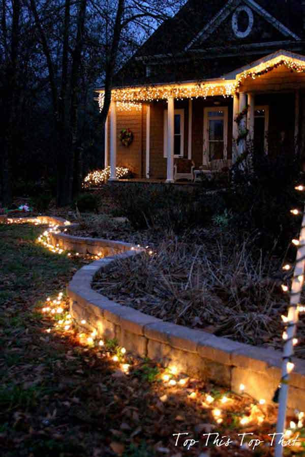 Top 46 outdoor christmas lighting ideas illuminate the for Simple outside christmas lights ideas