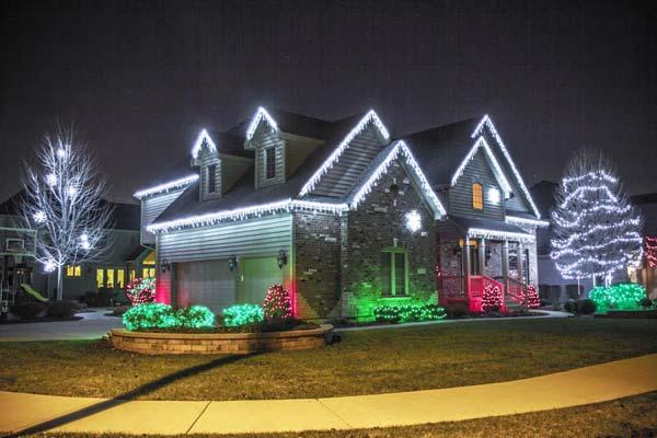 Top 46 Outdoor Christmas Lighting Ideas Illuminate The ... on Patio Lights Decorating Ideas id=36893