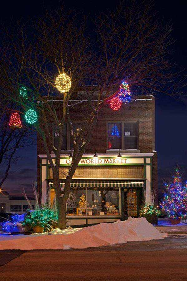 Outdoor-Christmas-Lighting-Decorations-40 & Top 46 Outdoor Christmas Lighting Ideas Illuminate The Holiday ...