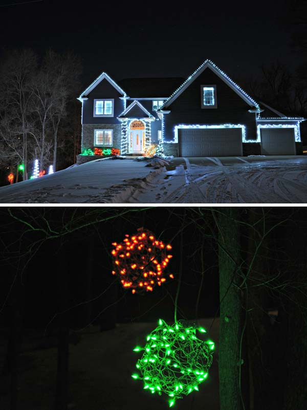 Outdoor-Christmas-Lighting-Decorations-8 ... & Top 46 Outdoor Christmas Lighting Ideas Illuminate The Holiday ... azcodes.com