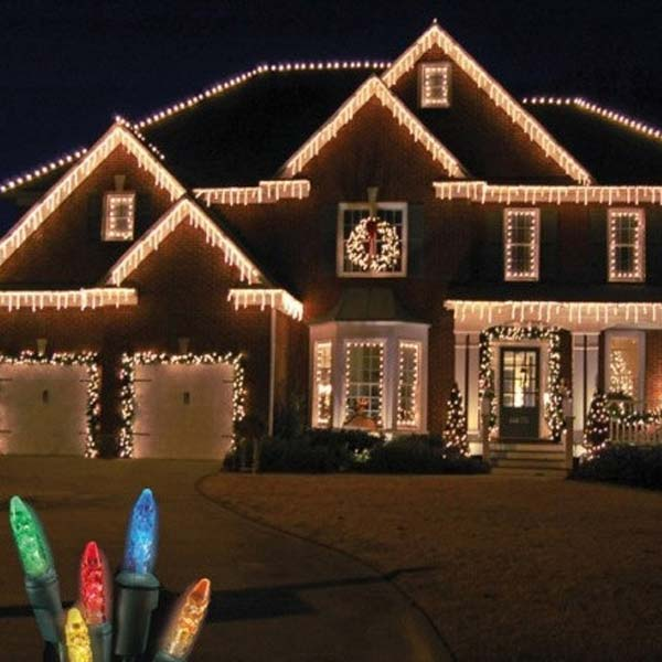 Outdoor Christmas Lights Ideas.Top 46 Outdoor Christmas Lighting Ideas Illuminate The