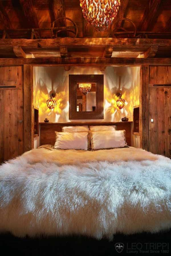 22 inspiring rustic bedroom designs for this winter for Cabin bedroom designs
