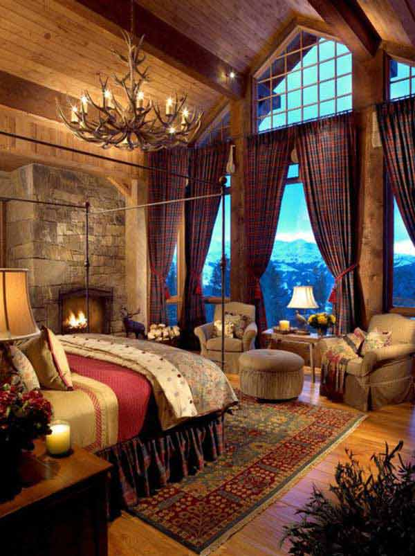 Rustic Cabin Bedroom Design Ideas