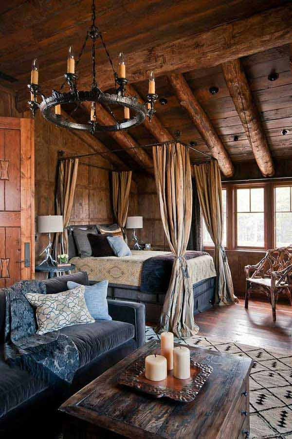 22 Inspiring Rustic Bedroom Designs For This Winter ... on Teenage:rfnoincytf8= Room Designs  id=34127
