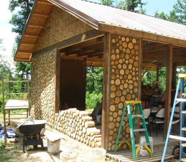 Natural cordwood masonry cabins amazing diy interior for Cordwood house cost