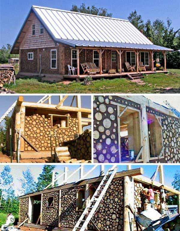 Natural cordwood masonry cabins amazing diy interior for Building a house cheaply