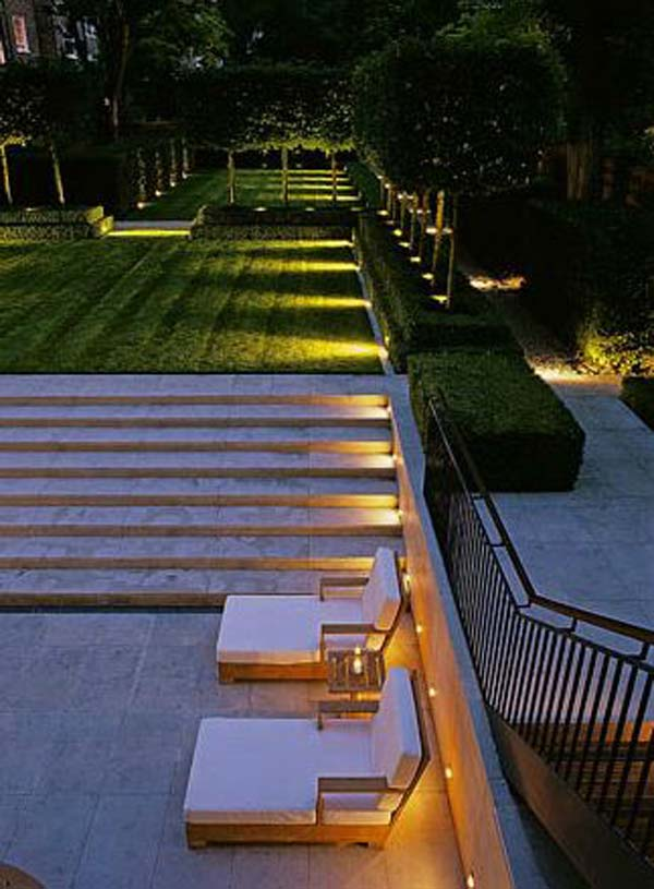Lighting Basement Washroom Stairs: 30 Astonishing Step Lighting Ideas For Outdoor Space