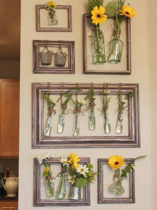 35 fantastic ways to repurpose old picture frames for Repurposed home decorating ideas