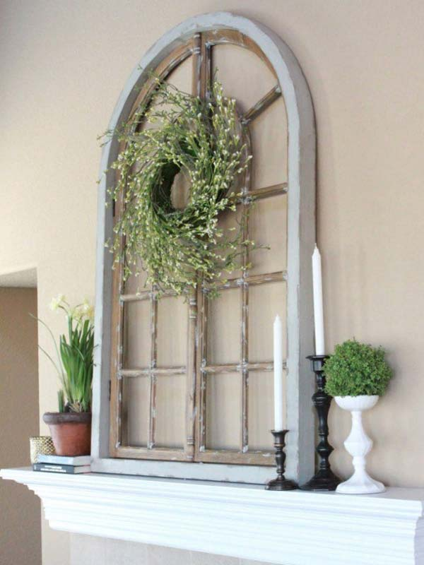 Top 38 best ways to repurpose and reuse old windows for Window frame designs house design