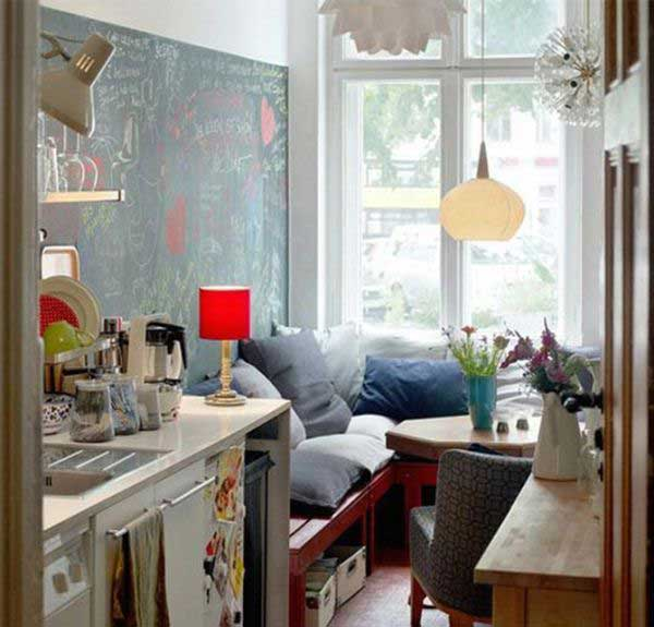 Design For Small Kitchen Spaces: 38 Cool Space-Saving Small Kitchen Design Ideas