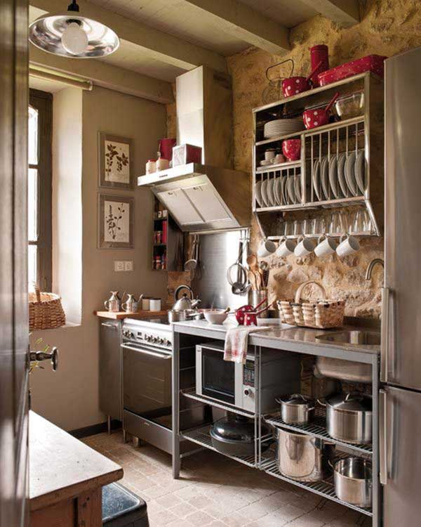 28 Small Kitchen Design Ideas: 38 Cool Space-Saving Small Kitchen Design Ideas