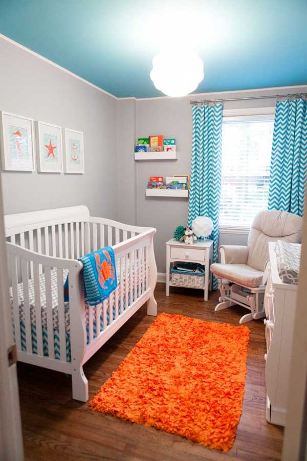 22 steal worthy decorating ideas for small baby nurseries for Baby boy s room decoration