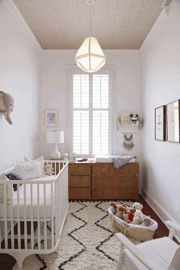22 steal worthy decorating ideas for small baby nurseries for Simple nursery design