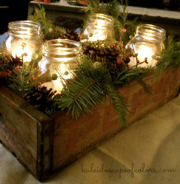 diy vintage christmas decor 12 - Vintage Rustic Christmas Decorations