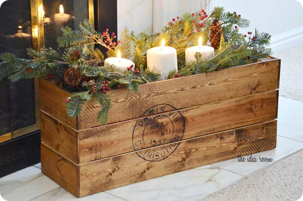 32 astonishing diy vintage christmas decor ideas amazing diy interior home design - Decorative wooden crates ...