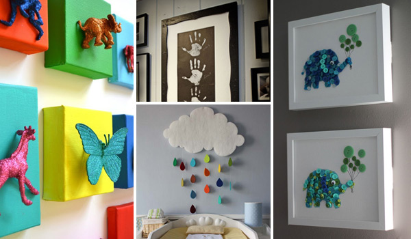 DIY-Wall-art-for-kids-room-0 & Top 28 Most Adorable DIY Wall Art Projects For Kids Room - Amazing ...