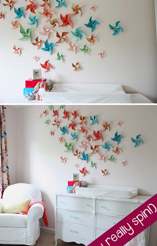 Kids Room Wall Design butterfly wall stickers purple lilac white Diy Wall Art For Kids Room 10