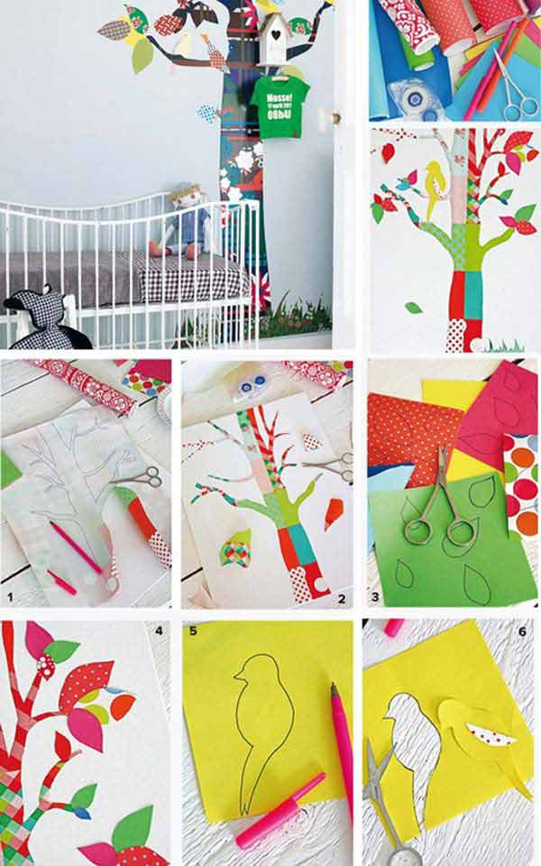 Top 28 most adorable diy wall art projects for kids room Kids room wall painting design