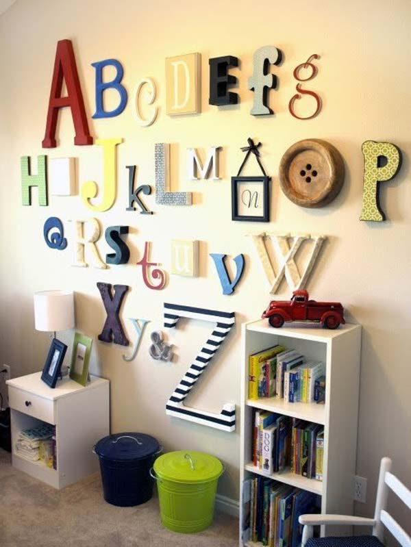 Top 28 Most Adorable DIY Wall Art Projects For Kids Room Amazing