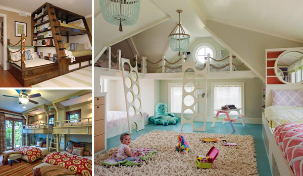 21 most amazing design ideas for four kids room - Bedroom Ideas For Children